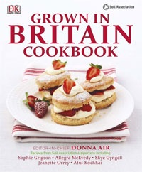 Photo of front page of Grown in Britain Cookbook