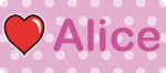 Image of nametage with pink polka dots