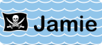 Image of nametag with wave