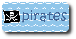 pirate flag with waves image