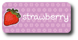 strawberry flower name tag image