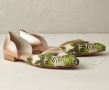 Anthropologie pointy flats